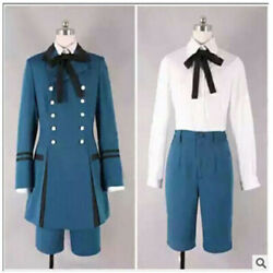 Black Butler Ciel Phantomhive Cosplay Costume Full Set Outfit Unsex Dress Suit
