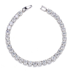 UMODE 18K White Gold Plated Jewelry 0.5 Carat Round Cut Clear Cubic Zirconia CZ