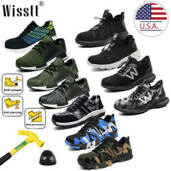 Men's Work Safety Indestructible Mesh Shoes Steel Toe Bulletproof Midsole Boots