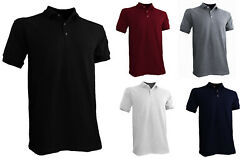 Styllion Big and Tall Men#x27;s Pique Polo Shirts Heavy Weight Collar PQSS $18.99