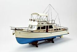 Grand Banks 42 Yacht Handmade Wooden Boat Model 38quot; RC Ready Top Quality $699.00