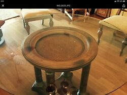 TommyBahama style Glass kitchen table with wooden base. Table only. $250.00 $250.00