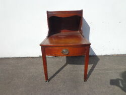 Antique Table Mahogany Leather Top Side Accent End Nightstand Duncan Phyfe $375.00
