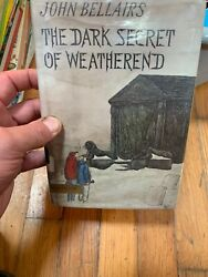 John Bellairs The Dark Secret Of The Weatherend Hcdj Ex Lib First Edition Rare