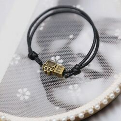 2019 New Fashion Bracelets for Women & Men Letter Bracelet A~Z and Bronze Charm