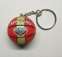 NBA Basketball New Orleans PELLICANS Spalding Ball KEY CHAIN Ring Keychain NEW $24.99