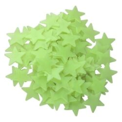 Yellow 100 3D Home Wall Decal Ceiling Glow In the Dark Star Kid Bedroom Stickers $6.81