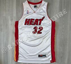 NBA JERSEY MIAMI HEAT SHAQUILLE O'NEAL NIKE AUTHENTIC SZ 48 VTG WADE BUTLER HOME