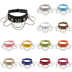 Punk Classic Choker Leather Collar O Ring Spike Rivet Gothic Necklace Jewelry