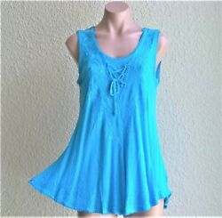 India Boutique Sleeveless Tunic Style Top  Cover Up - FREE SIZE ONE SIZE NWT