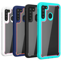 Defense Case For Galaxy A20 A10 50 A70 Full Body Shockproof Cover+Tempered Glass