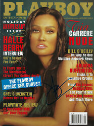 TIA CARRERE EXOTIC BEAUTY SIGNED AUTOGRAPHED PLAYBOY JANUARY 2003
