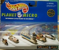 Hot Wheels Planet Micro Special Collectors Edition Gold Land Speed Record 1997 $27.99