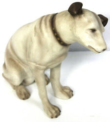 Very Early RCA Nipper Dog Store Display Statue With Original Tag Excellent LOOK!