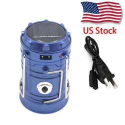 Rechargeable LED Camping Hiking Tent Light Portable Solar Lantern Torch US STOCK