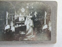 SV136 Stereoview Photo Card lovers Come Dear and well go to the Opera fancy room $5.99