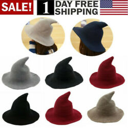 Women Witch Hat Halloween Modern Witch Hat Made From High Quality Sheep Wool USA $13.99