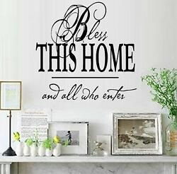 Bless This Home 12.5quot; x 12.5quot; Square Vinyl Wall Decal Sticker Home Décor Family $11.49