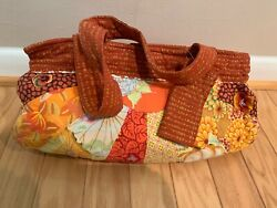 Vintage Amy Butler Fabric Bag Quilted Patchwork Purse Tote Handbag with wallet