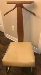 SetWell Co. 1966 Mid Century Modern Danish Valet Butler Chair Stand USA