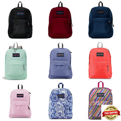 JANSPORT SUPERBREAK BACKPACK 100% AUTHENTIC SCHOOL BAG BLACK VIKING RED SURPL