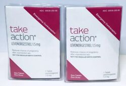 Take Action Emergency Contraceptive Levonorgestrel 1tab Lot of 2 Exp 2021+ 0880