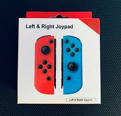 Neon Red & Blue Replacement for Nintendo Switch Joy-Con Wireless Controller