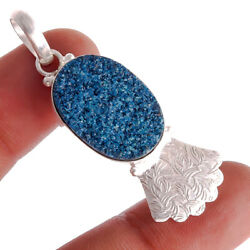 Blue Titanium Druzy Ebay Store Jewelry Gemstone Pendant 1.5'' to 2.5'' Bj498