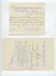 Pair of Philadelphia & Reading RR co. forms postal funds [s.118]