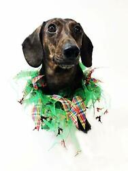 Midlee Plaid and Green Decorative Dog Collar $9.99
