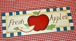Rustic Country Wood sign quot;FRESH APPLES#x27; home decor apple collector gift $7.95