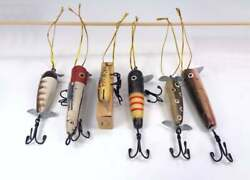 New Antique Fishing Lures Christmas Ornaments Beach House Decor Gift