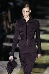 Tom Ford for GUCCI Runway FW 2004 Collection Black Dress Skirt Suit It 42 US 6