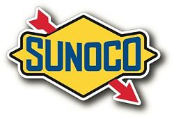 Sunoco Decal Sticker Racing Gasoline Oil Vintage Reproduction Decal $3.99