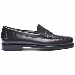 Sebago Classic Dan Loafers Men's Leather Full Flower Stitched a Mano Heel Rubber