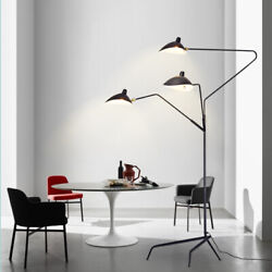 Aluminum Black Arms LED Floor Lamp Standing Lamps Office Reproduction Lighting $134.10