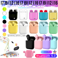 NEW ! i16 TWS i12 TWS i9 TWS i7 TWS i7 plus Wireless Earbuds Bluetooth 5.0 USA S