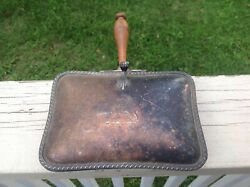Vintage Silent Butler Wood Handle Crumb Catcher Ashtray