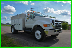 2005 Ford F-750 Spool Truck with Utility Service Body Low Reserve to Sell!