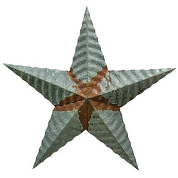 Galvanized Rusty Courrgated 12quot; Barn Star Classic Country Decor $6.95