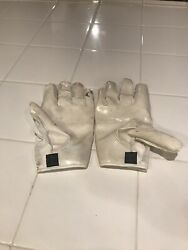 White cutters football gloves adult large $10.00