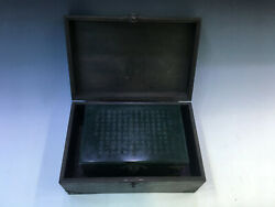 Rare Chinese Jasper Graven Jade Jewelry Boxes With Rosewood box