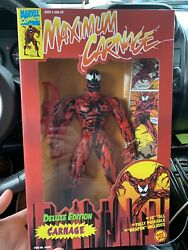 "Toy Biz Marvel Comics Deluxe Edition 10"" Inch Maximum Carnage Carnage MIB MISB"