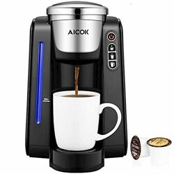 AICOK Single Serve Programmable Coffee Maker 5 Brew Sizes One Cup STEREO19