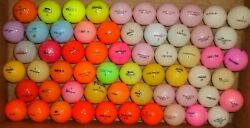 60 assorted mixed colored golf balls good playable condition