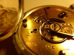 W.H. Ferry Antique Elgin National Watch Co Size 18 COIN Pocket Watch Keeps Time!