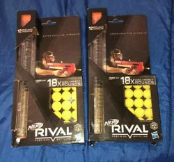 Lot of 2 NERF Rival 18 High Impact Rounds Refill Pack & 12 Round Magazine Hasbro