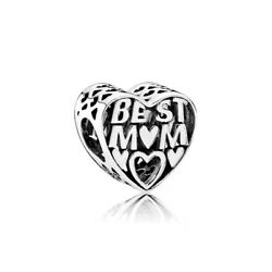 Authentic Pandora  Sterling Silver Best Mother Charm 791882 #10