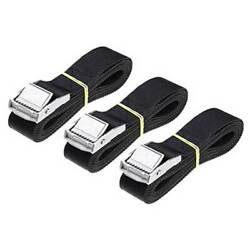 3Pcs Heavy Duty Luggage Strap Belts Tie Down Rope WCam Buckle For Car Rack Roof