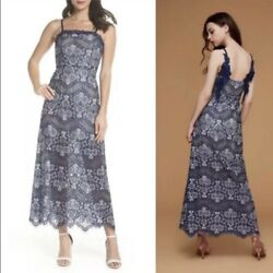 Anthropologie Foxiedox Open Back Lace Fancy Maxi Dress Womens Small $45.00